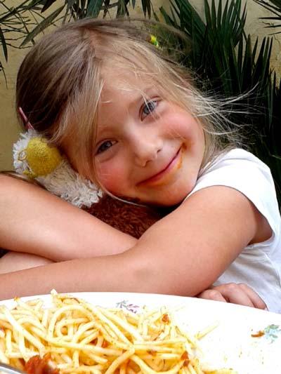 Elena und ihre Spagetti